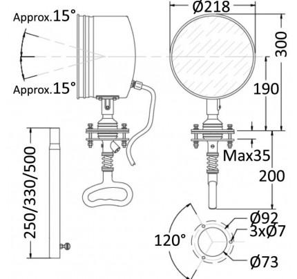 DHR-PCG_13953-Faro di profondità orientabile dall'interno, modello professionale ad altissima potenza DHR-20