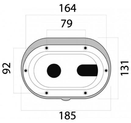 Osculati-15.900.02-Box e coperchio Classic XL foro trasversale-20
