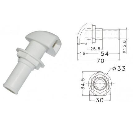 Osculati-20.283.00-Sfiato in plastica Ø 16 mm-20