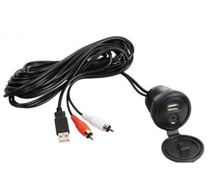 Osculati-29.530.08-Cavo ausiliare USB-AUX con frontalino stagno-20