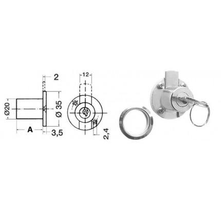 Osculati-38.106.00-Cilindro chiusura cassetti 20 mm-20