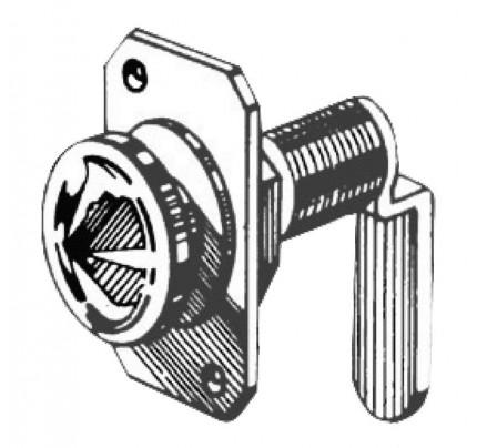 Osculati-38.131.65-Serratura ottone nichelato 16 mm-20