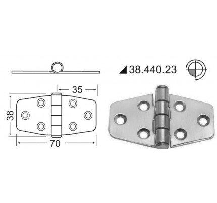 Osculati-38.440.23-Cerniera standard 70x38 mm-20