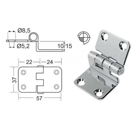 Osculati-PCG_20572-Cerniera a sbalzo 2 mm-20