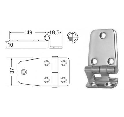 Osculati-38.441.57-Cerniera inox a sbalzo 67,5x37 mm-20