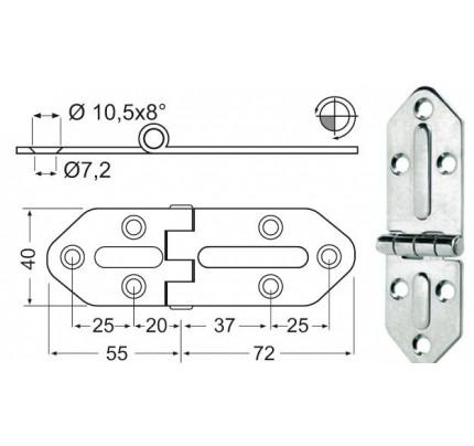Osculati-38.444.00-Cerniera inox Chromelux-20