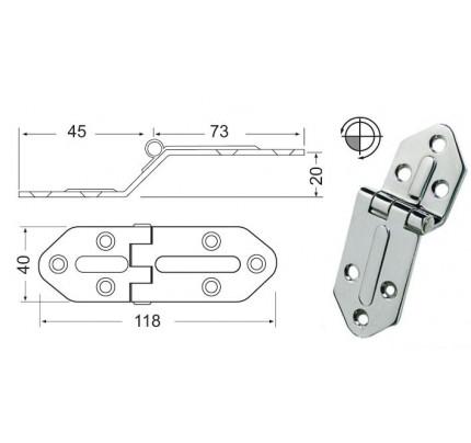 Osculati-38.445.05-Cerniera inox sporgente 118x40 mm-20