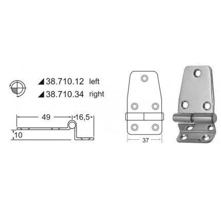 Osculati-PCG_20578-Cerniera a sbalzo 2 mm-20