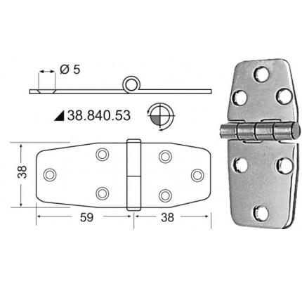 Osculati-38.840.53-Cerniere inox 97x38 mm-20