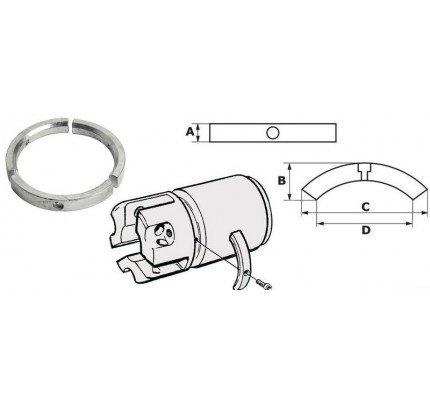 Osculati-PCG_3072-Anodo per elica piedi Sail Drive/Folding Prop, serie 3 pezzi-20