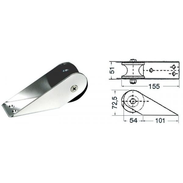 Osculati-01.118.82-Musone di prua inox 155 x 51 mm-30