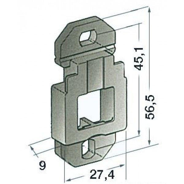 Osculati-14.116.01-Basetta di supporto a parete-30