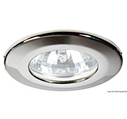 Sterope halogen ceiling light for recess mounting