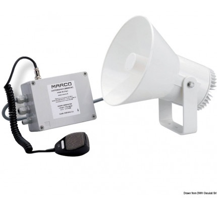 Marco-PCG_1689-MARCO electronic horn with amplifier, suitable for boats from 12 to 20 metres-20